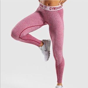 Gym Shark Flex Leggings Workout Pink Beet  487